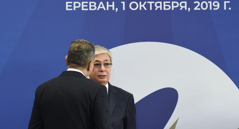 Президент Казахстана Касым-Жомарт Токаев после заседания ВЕЭС