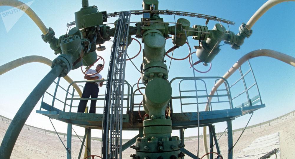 Первая нефтяная скважина на месторождении Тенгиз