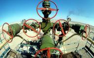 Обустроенная скважина на нефтяном месторождении Тенгиз
