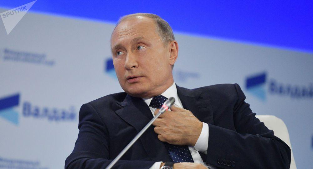 Президент РФ В. Путин принял участие в заседании клуба Валдай