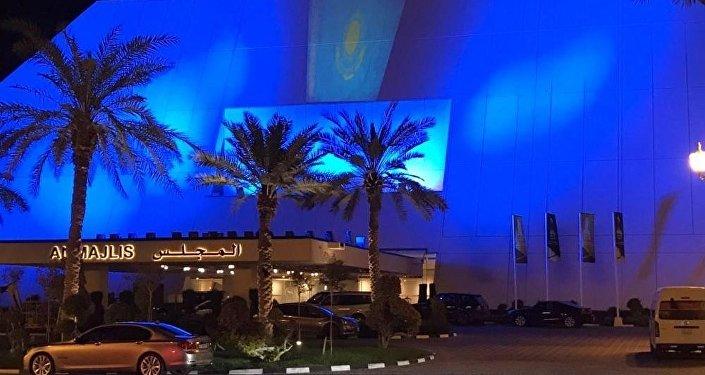 Катарские отели подсвечены в честь Дня независимости Казахстана