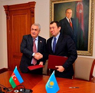 Джавид Гурбанов және Қанат Алпысбаев