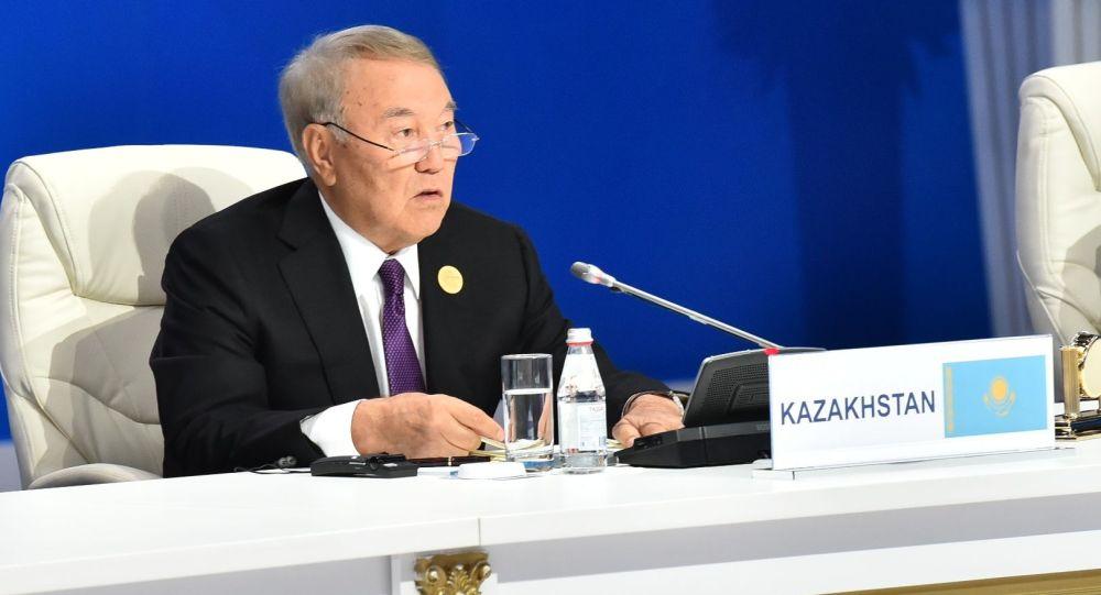 Нурсултан Назарбаев на совещании спикеров парламентов стран Евразии, архивное фото