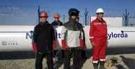 Церемония сварки золотого стыка газопровода Сарыарка