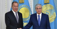 Глава государства принял министра иностранных дел Российский Федерации Сергея Лаврова