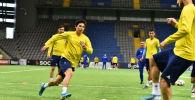 Тренировка сборной Казахстана по футболу перед матчем с Кипром