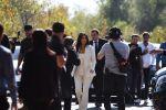 Американская модель, актриса Ким Кардашьян перед форумом Всемирного конгресса информационных технологий в Ереване