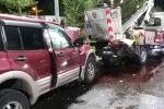 Авария с автокраном на перекрестке Аль-Фараби – Маркова