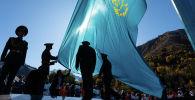 Поднятие флага на Медео