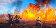 Пожар в Есильском районе столицы возле Корганлжынского шоссе