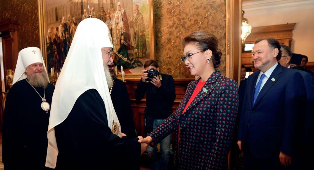 Встреча патриарха Кирилла с председателем Сената парламента Республики Казахстан Даригой Назарбаевой
