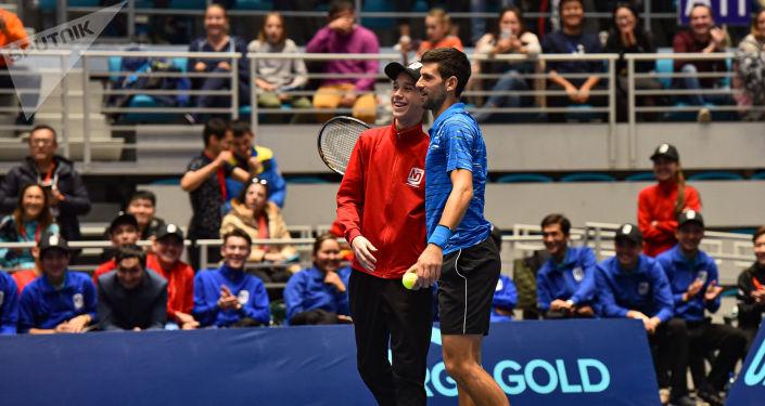 Благотворительный матч между теннисистами Новаком Джоковичем (на фото) и Рафаэлем Надалем