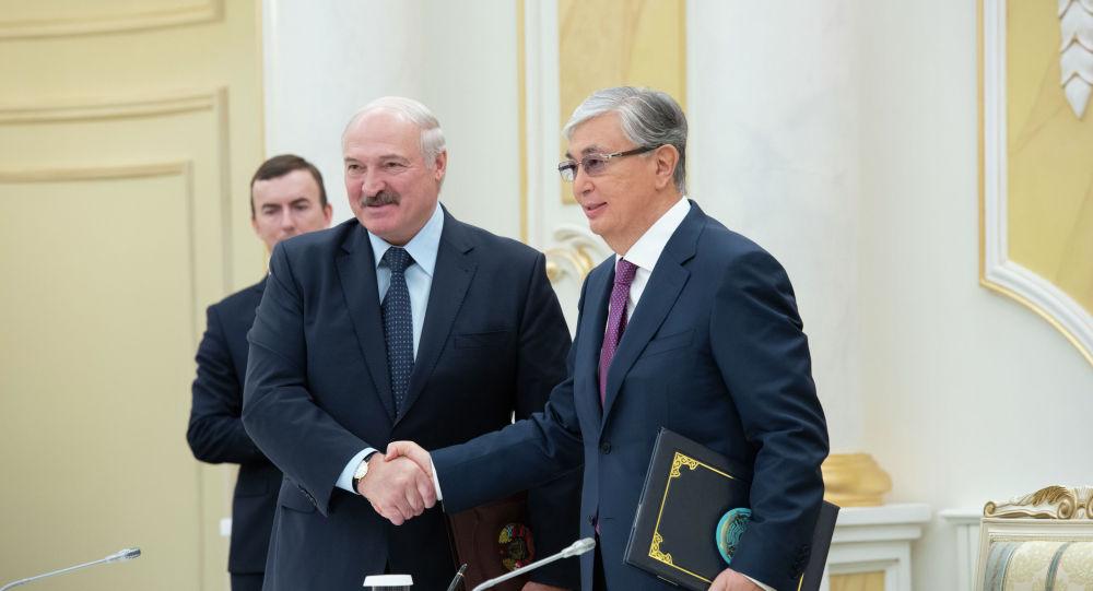 Александр Лукашенко мен Қасым-Жомарт Тоқаев