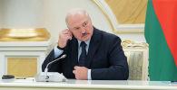 Президент Александр Лукашенко во время визита в Нур-Султан