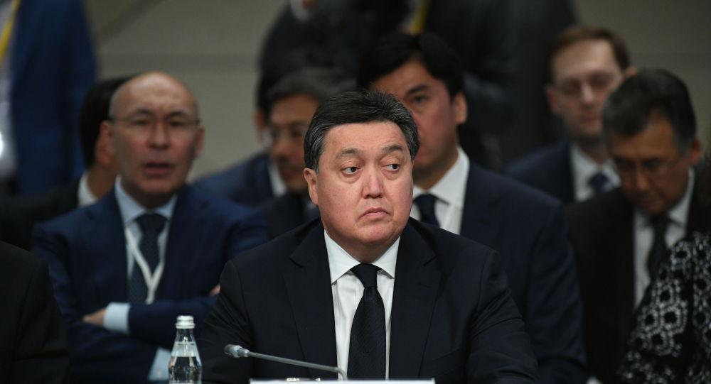 Аскар Мамин на заседании Евразийского межправительственного совета