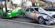 Мерседес сбил пешехода на ул. Жанкожа батыра