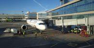 Первый борт Air Astana встретили водяной аркой в Домодедово