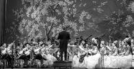 Дни культуры и искусства Казахской ССР в Москве. Выступление Казахского государственного оркестра народных инструментов имени Курмангазы