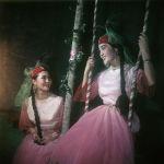 Солистки Казахского государственного оркестра народных инструментов имени Курмангазы - Мутиса Омарова и Роза Еслимагалиева