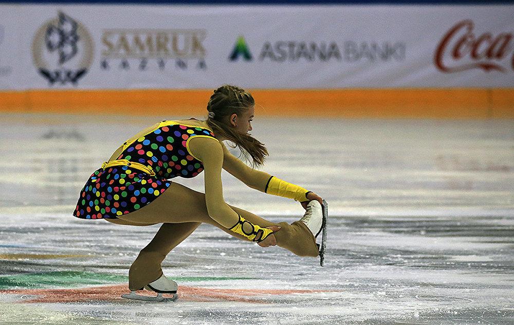 Алматыдағы мәнерлеп сырғанау бойынша сынақ жарысы