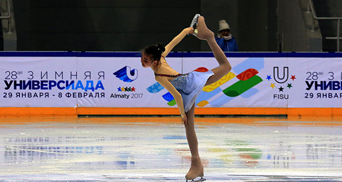 Тестовые соревнования по фигурному катанию  накануне зимней Универсиады в Алматы
