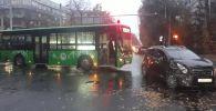 Автобус столкнулся с Дэу Матиз