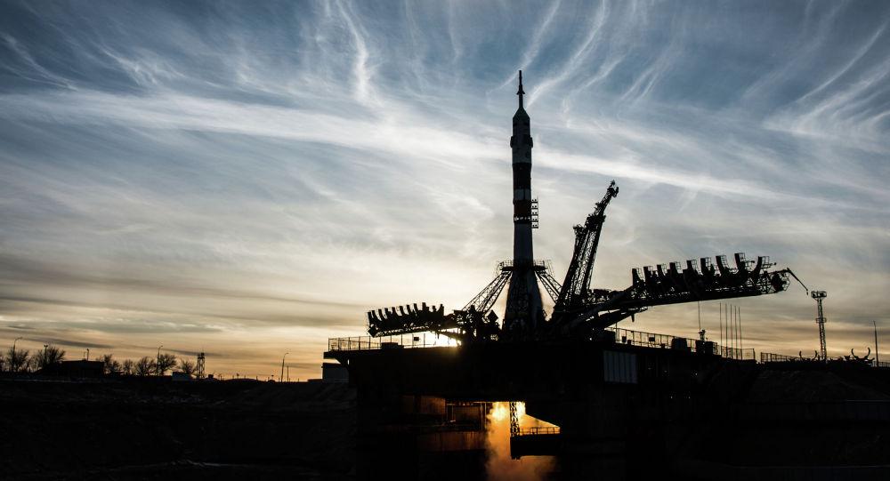 Старт ракеты-носителя Союз-ФГ