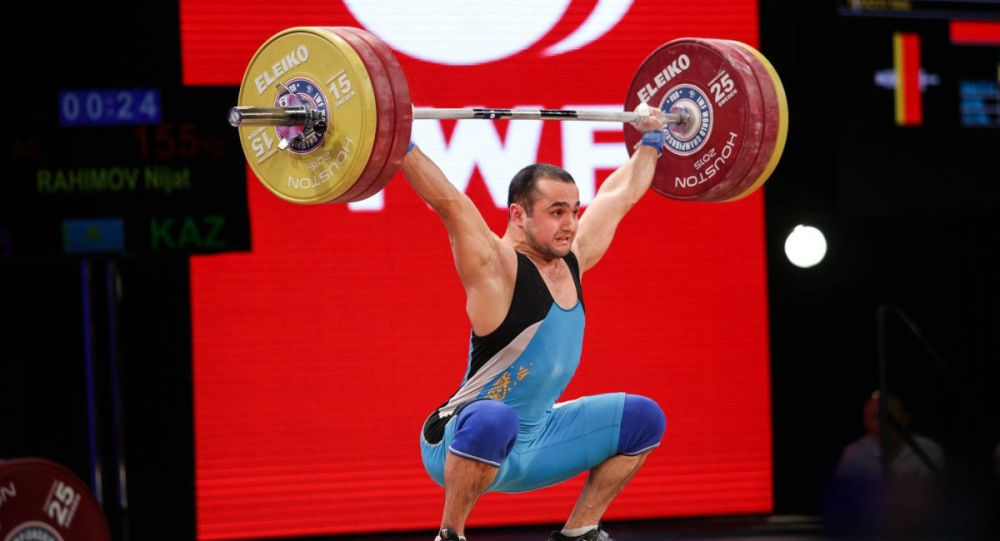 Казахстанский тяжелоатлет Нижат Рахимов