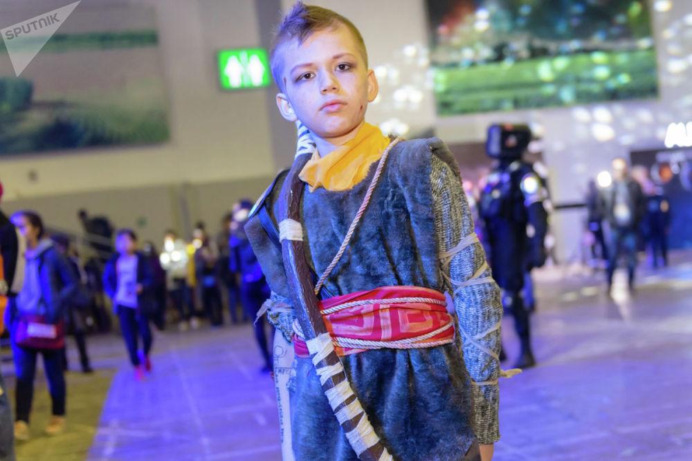 Атрей сын Кратоса из видеоигры God of War