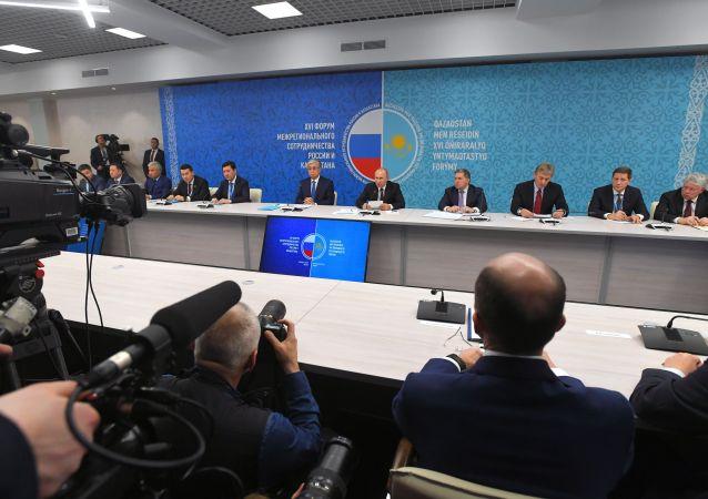 Президенты Касым-Жомарт Токаев и Владимир Путин приняли участие в форуме межрегионального сотрудничества России и Казахстана