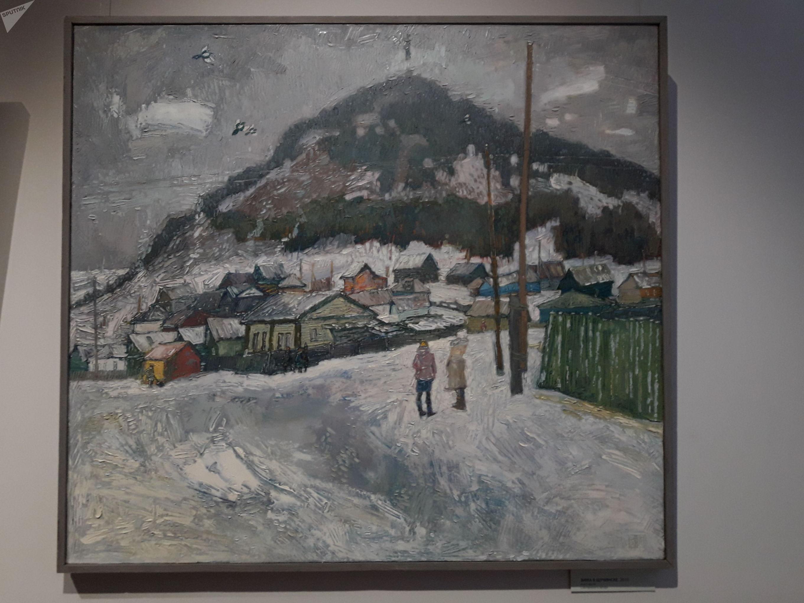 Зима в Щучинске. Г.Баймуханов