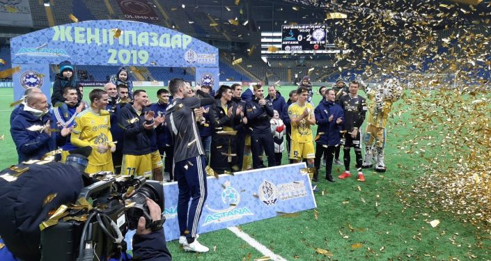 Торжественное вручение кубка чемпионам Казахстана