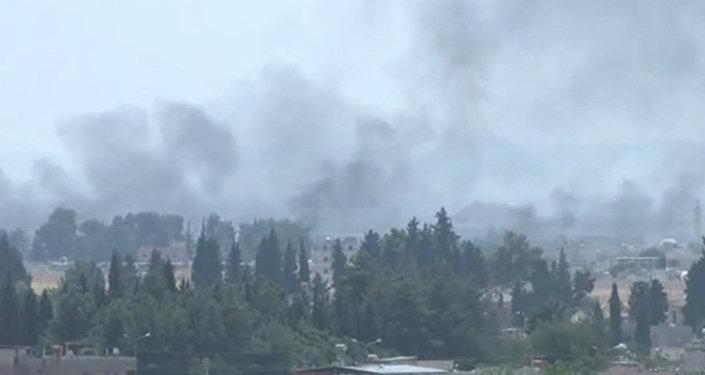 Операция Турции в Сирии: транспортные средства на границе и авиаудары