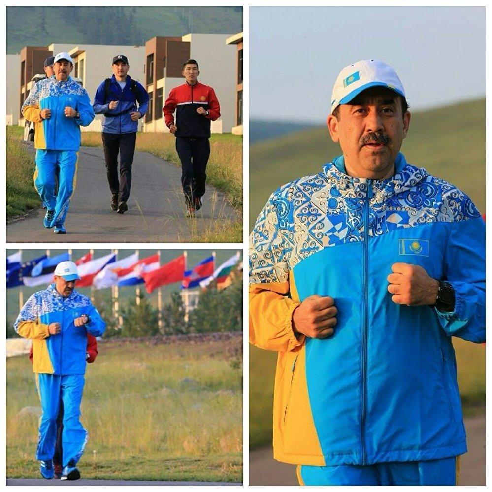Карим Масимов на пробежке