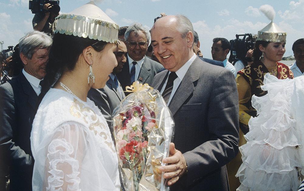 Визит М.С. Горбачева в Казахстан
