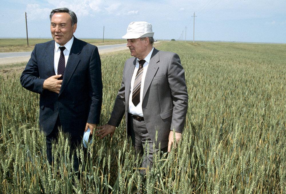 М.С. Горбачев и Н.А. Назарбаев