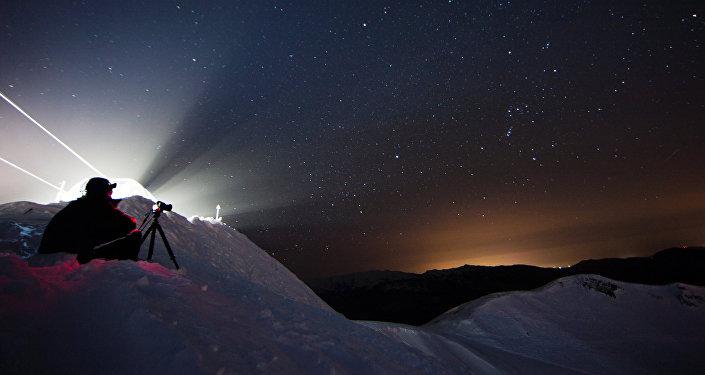 Звездное небо зимой