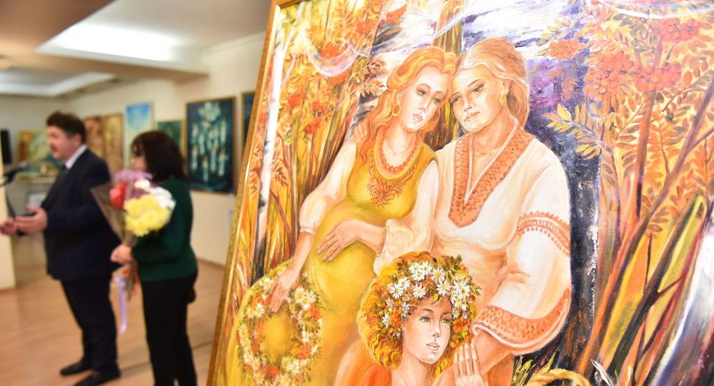 Нина Терещенконың Суреттер мен түстердегі аңыздар мен ертегілер көрмесі