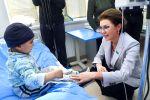 Дарига Назарбаева посетила детскую онкологию в Ереване