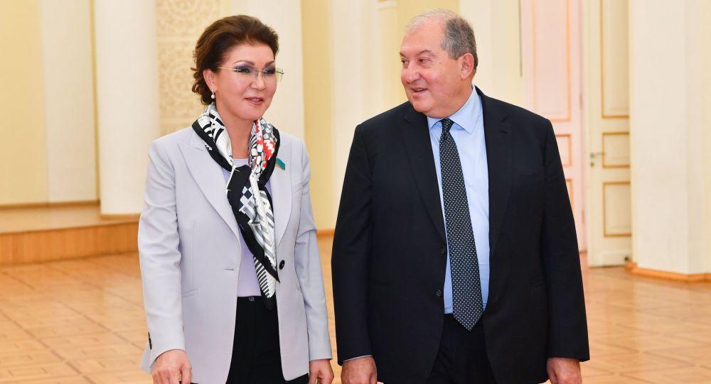 Дариға Назарбаева және Армения президенті Армен Саркисян