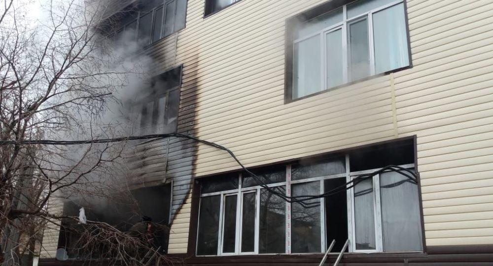 Пожар в школе №3 в Жезказгане