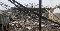 В жилом массиве Сайрам Каратауского района Шымкента произошло обрушение потолочного перекрытия и железобетонных стен новостроящегося здания