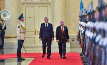 Официальный визит президента Швейцарии Ули Маурера по приглашению главы государства Казахстана Касым-Жомарта Токаева