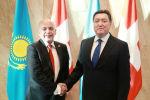 Премьер-министр Казахстана Мамин провел переговоры с Федеральным Президентом Швейцарии Маурером
