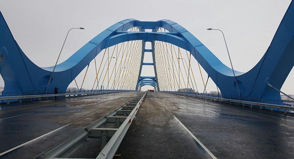 Открытие моста в Павлодаре