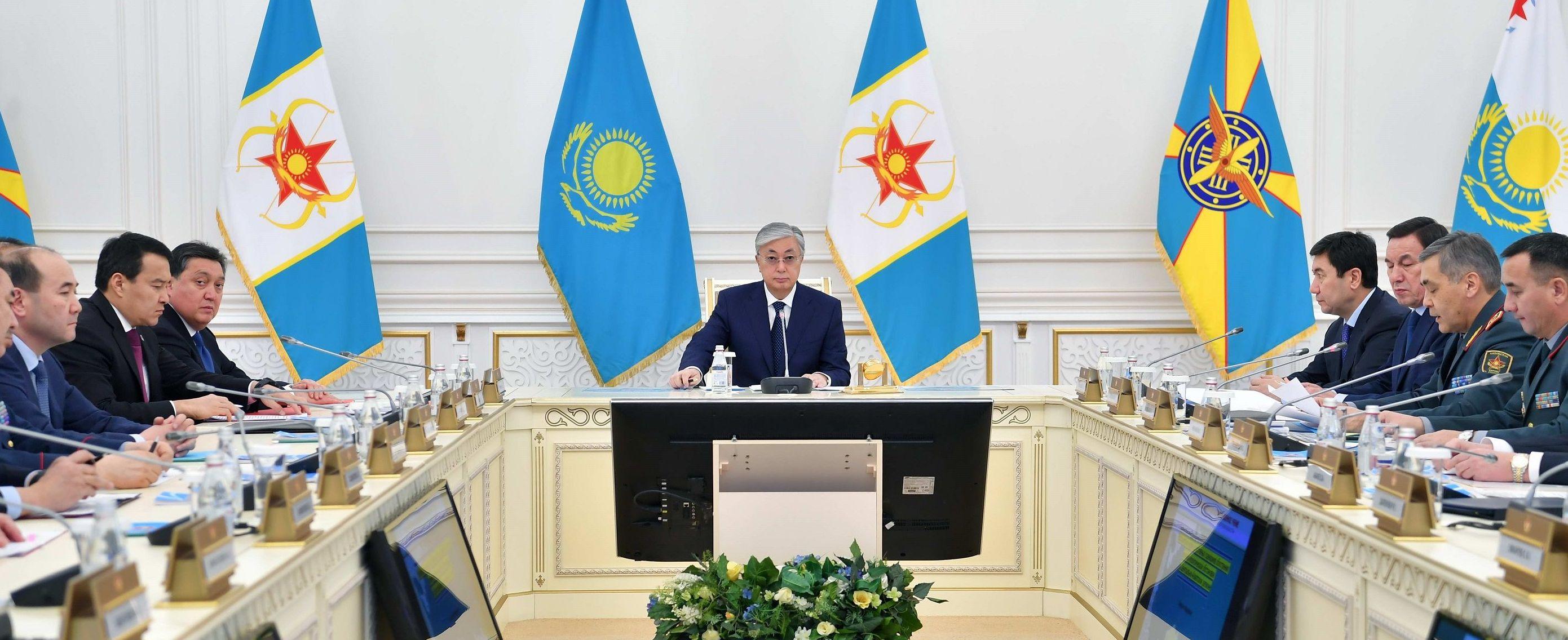 Касым-Жомарт Токаев принял участие в стратегических командно-штабных учениях