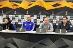 Пресс-конференция представителей ФК Астана Романа Григорчука и Ивана Маевского накануне матча с Манчестер Юнайтед