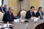 Касым-Жомарт Токаев на заседании Высшего Межгосударственного Совета Казахстана и Кыргызстана