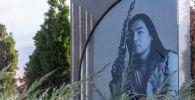 Мемориал над могилой Батырхана Шукенова на кладбище Кенсай