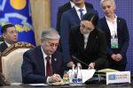 28 ноября 2019. Президент Казахстана Касым-Жомарт Токаев на заседании Совета коллективной безопасности ОДКБ в расширенном составе
